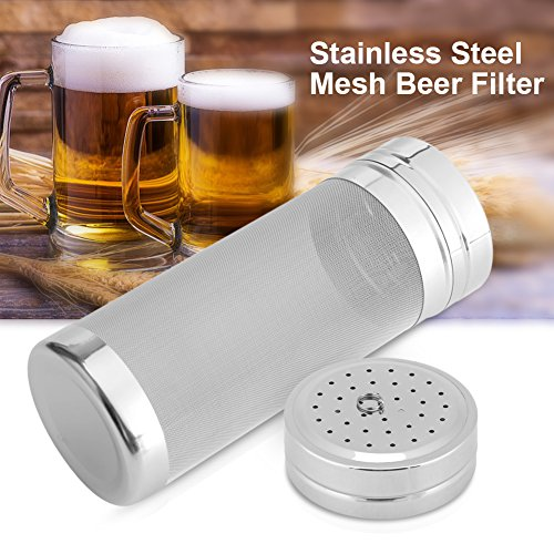 Beer Mesh Filter,300 Micron Stainless Steel Dry Hopper Beer Home Brewing Filter for Homemade Brew Home Cornelius Kegs by Aramox
