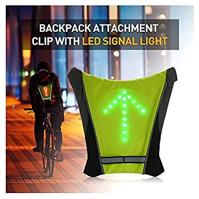 FANCYWING LED Turn Signal Bike Pack Accessory/Bicycle Backpack Widget for Night Use/Road Cycling Direction Indicator - USB Rechargeable Sport Outdoor Safety Vest for Cycling Running Walking Jogging