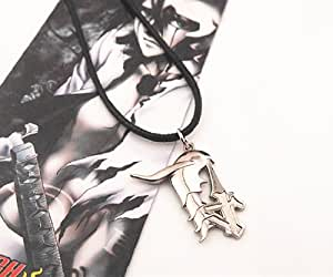Anime Bleach NO.4 Ulquiorra Schiffer Logo Necklace Pendant+Black Rope Metal
