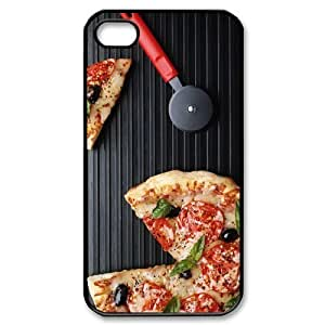 Hot phonecase, Delicious food Pizza picture for black plastic iphone 4,4s case