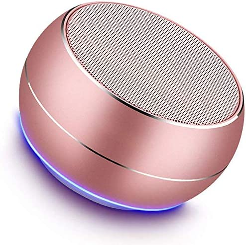 NUBWO Portable Bluetooth Speakers with Mic, Hands-free Function, Built-in Mic, Enhanced Bass for iPhone, iPad, Blackberry, Samsung and More Rose Gold