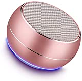 NUBWO Portable Bluetooth Speakers with Mic, Hands-free Function, Built-in Mic, Enhanced Bass for iPhone, iPad, Blackberry, Samsung and More (Rose Gold)