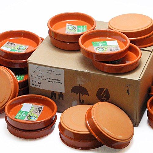 業務用 卸販売 カスエラ 14cm 20個セット アヒージョ用 スペイン製 直火用 耐熱陶器製 土鍋 Graupera   B07CZFS6Q5