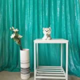 GFCC Hanging Curtain Photo Booth Sequin Backdrop Curtain Decorations-Aqua Green,8x9FT,Pack of 1