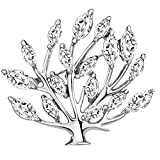 Neoglory White Brooches Tree of Life Brooch Gift Boxed