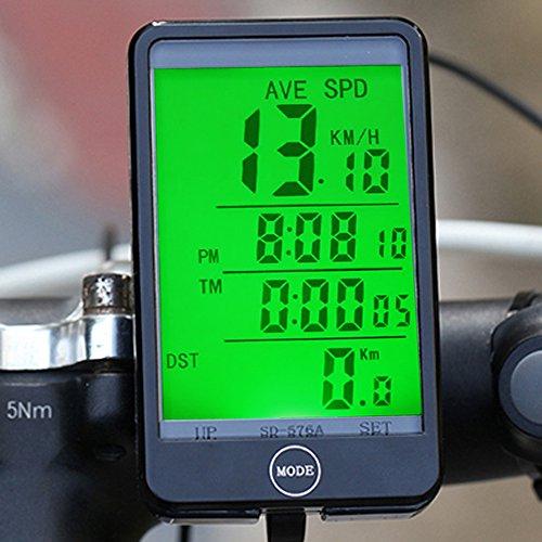 ... velocímetro con retroiluminación LCD para deportes al aire libre equitación ciclismo bicicleta de montaña plegable bicicleta vehículos de carretera mtb: ...