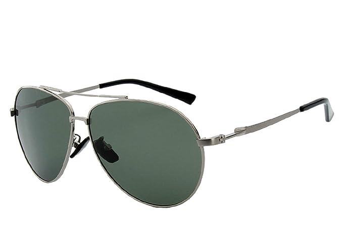 CHB Protección UV 400 Gafas de Sol Ligeras Con Estuche de Gafas Aviador Polarizadas Marco Metal Hombres Para Hacer Ejercicio: Amazon.es: Ropa y accesorios