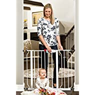 Regalo Easy Step 38.5-Inch Extra Wide Walk Thru Baby Gate, Includes 6-Inch Extension Kit, 4 Pack Pressure Mount Kit and 4 Pack Wall Cups and Mounting Kit