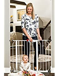 Regalo Easy Step Walk Thru Gate, White, Fits Spaces between 2...