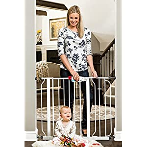 Regalo Easy Step 38.5-Inch Extra Wide Walk Thru Baby Gate, Includes 6-Inch Extension Kit, 4 Pack Pressure Mount Kit, 4 Pack Wall Cups and Mounting Kit 15