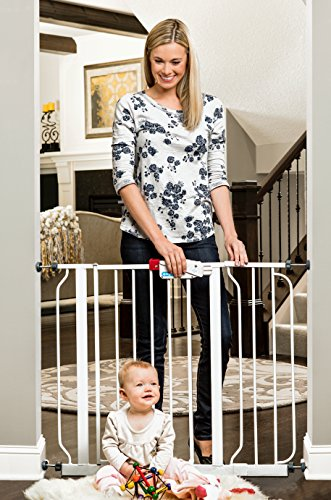 Regalo Easy Step 38.5-Inch Extra Wide Walk Thru Baby Gate, Bonus Kit, Includes 6-Inch Extension Kit, 4 Pack Pressure Mount Kit and 4 Pack Wall Mount Kit ()
