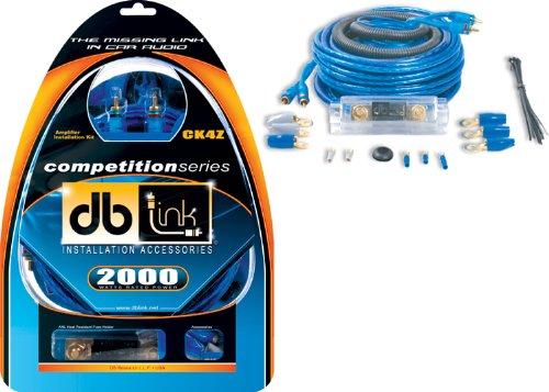 DB Link CK4Z 4 Gauge Competition Series Amplifier Installation Kit-Blue