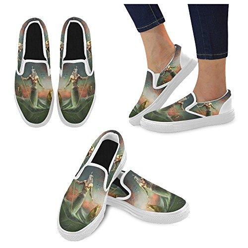 Unik Debora Anpassa Mode Kvinna Gymnastikskor Ovanliga Loafers Slip-on Tygskor Multicoloured36