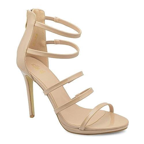 15849063e23 tresmode Women s Raman Tan High Heel Stiletto Sandals 3 UK India  (36 EU