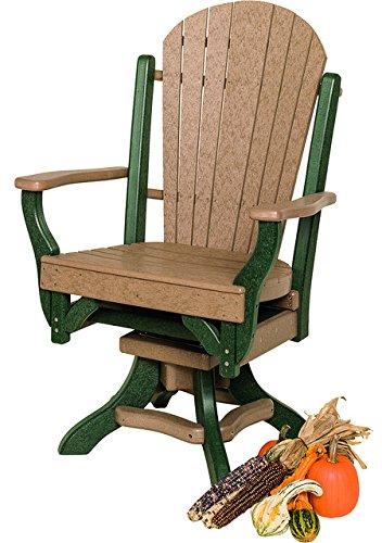 Furniture Barn Poly Lumber Fanback Style Swivel Arm Chair...