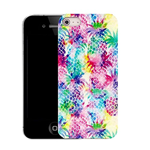 Mobile Case Mate IPhone 4 clip on Silicone Coque couverture case cover Pare-chocs + STYLET - tropical pineapple pattern (SILICON)