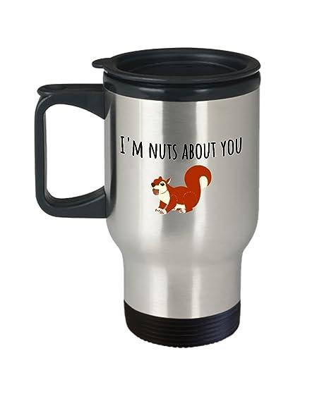 Amazon Com Cute Squirrel Travel Mug Valentine S Day Gift Funny