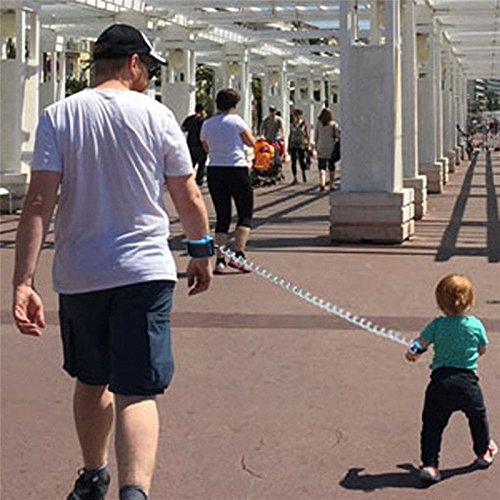 S&M TREADE-Toddler Kid Baby Safety Anti-lost Strap Link Harness Child Wrist Band Belt Reins - Bottle Wristband Opener