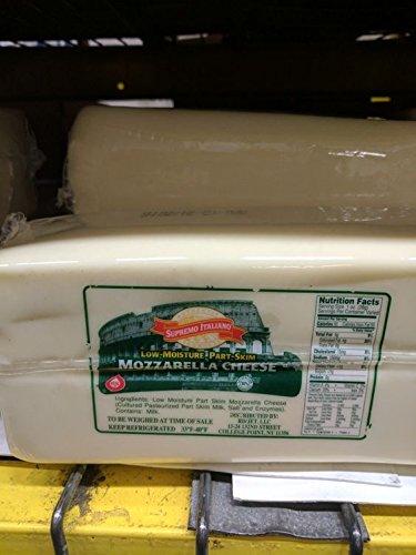 Supremo Italiano Part Skim Mozzarella Cheese 5 Lb