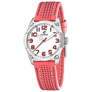 Calypso K5213/2 - Reloj para mujeres, correa de cuero color coral