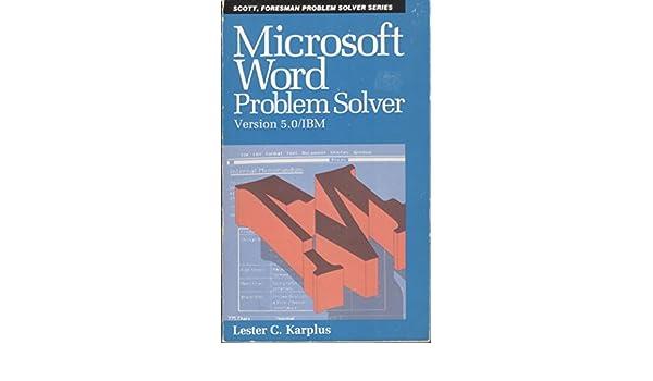 Microsoft WORD Problem Solver (Scott, Foresman problem solver series ...