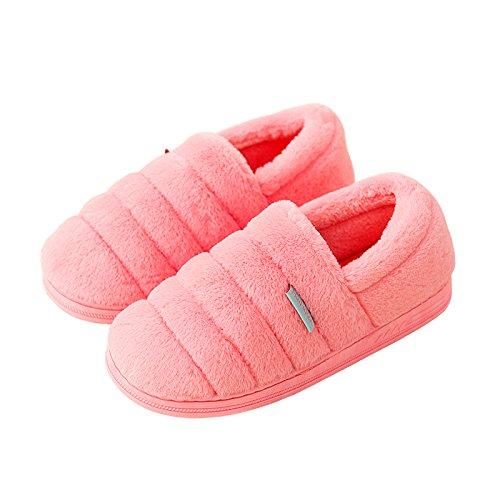 Cotone habuji pantofole inverno seguita dal fondo spesso in borsa a caldo con il pacchetto office di maternità postpartum scarpe, 35-36, rosa