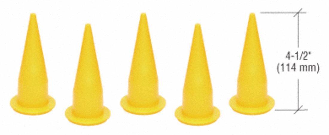 CRL Yellow Plastic Cone Nozzles WGCN