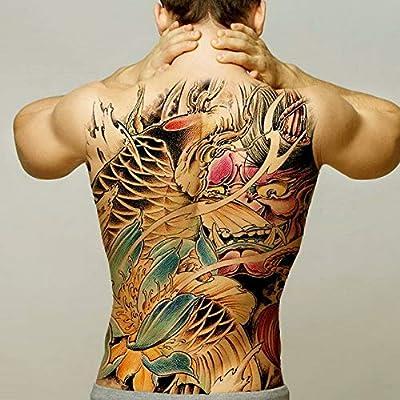 2pcs-Hombre Temporal Tatuaje Transporte acuático Tatuaje Espalda ...