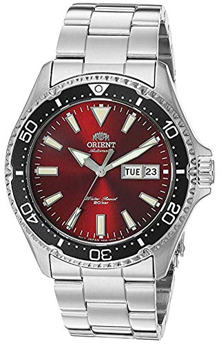 Orient Men's Kamasu Japanese Automatic Diving Watch with Stainless-Steel Strap