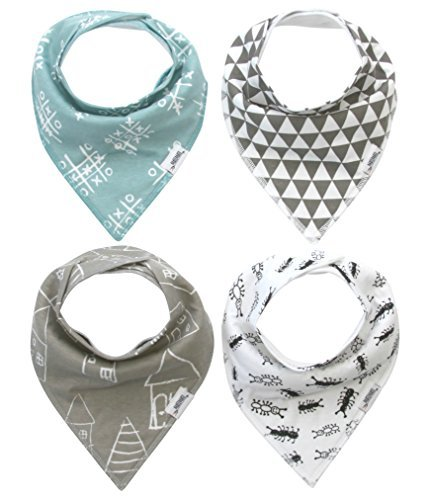 Amazon.com  Baby Bandana Drool Bibs with Snaps 4cf6c6aaf98f