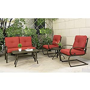 Cloud-Mountain-5-Piece-Cushioned-Outdoor-Furniture-Garden-Patio-Conversation-Set