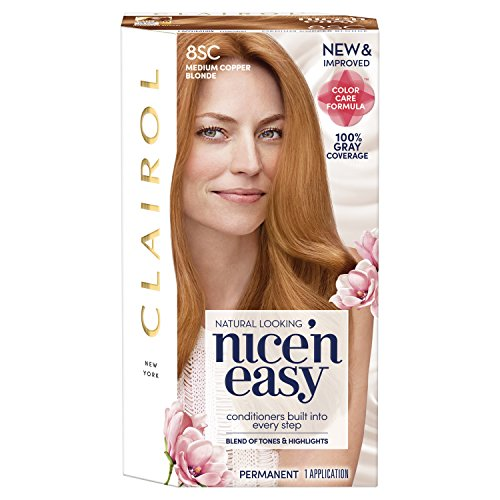 Clairol Nice'N Easy Crème 8SC Medium Copper Blonde (1 Kit) (Best Highlights For Natural Red Hair)