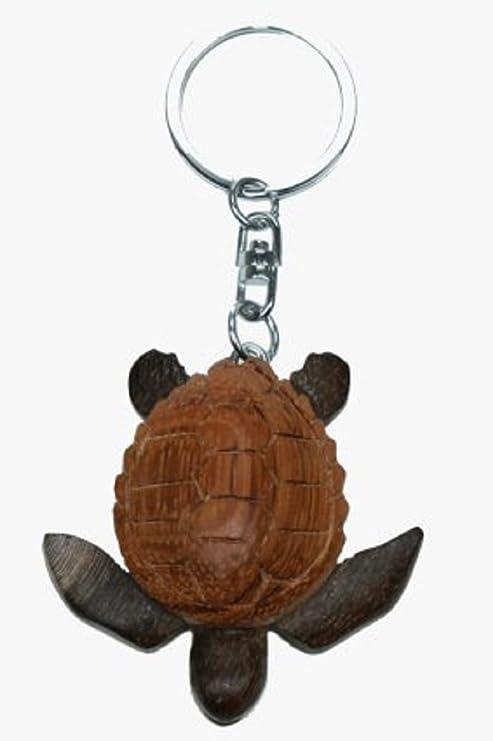 Llavero de madera con forma de tortuga: Amazon.es: Hogar