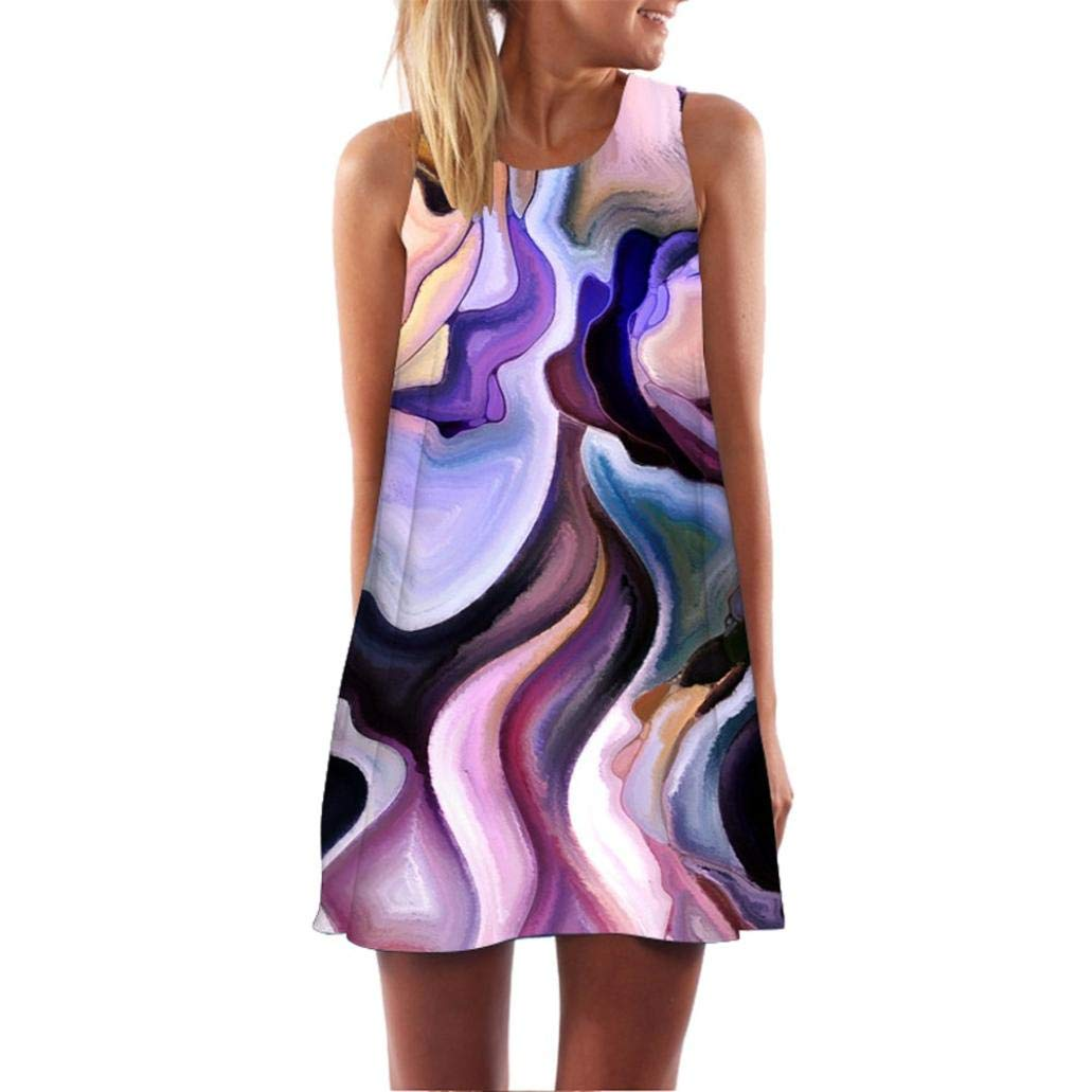 UONQD 2019d Women Off Shoulder Sleeveless Rompers Halter Jumpsuit Playsuit Stripe Printed Casual Clubwear Wide Leg Shorts(Small,F1-Purple)