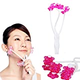 Facial Exercises To Lose Cheek Fat - Sealive Face Up Roller Massage Facial Exercises Lose Face Fat to Creat V Shape Face Small Faces Slimmer,Thin Face Lift Plastic Massager Manual Massage Beauty Tool for Women Girls