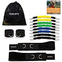 DYNAMX TRAINER: Speed and Agility Training Leg Resistance Bands for All Sports & Exercise Fitness | Bonus Ankle Straps | Training Videos | Fast Sprinting, Explosive, Agile, Muscle Strength...