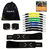 DYNAMX TRAINER: Speed and Agility Training Leg Resistance Bands for All Sports & Exercise Fitness | Bonus Ankle Straps | Training Videos | Fast Sprinting, Explosive, Agile, Strength, Endurance...