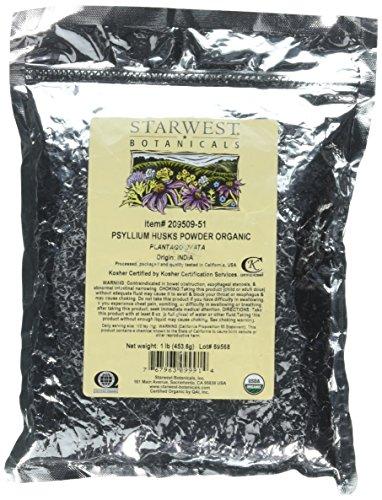 Starwest Botanicals Organic Psyllium Husk Powder, 1 Pound
