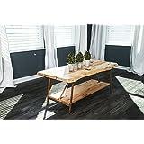 Niangua Furniture Live Edge Rustic Coffee Table - Hickory Wood - Metal Copper Pipe Legs - 48 x 23
