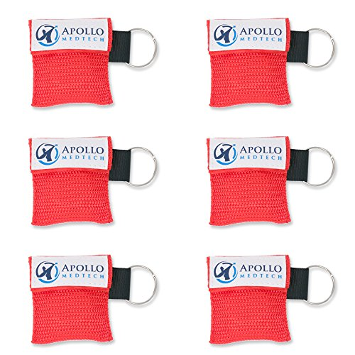 (CPR Mask for Pocket or Key chain, CPR Emergency Face Shield with One-way Valve Breathing Barrier for First Aid or AED Training - Apollo MedTech (6))