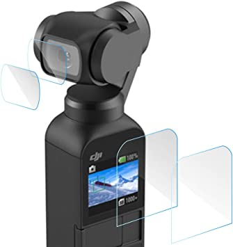 Screen Protector for DJI OSMO Anti-Scratch Lens and Screen Protection Films Set Compatible with DJI Osmo Pocket 4 PCS Tempered Glass Lens and Screen Cover Protective Film