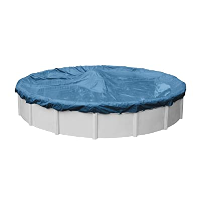 Pool Mate 3518-4PM Heavy-Duty Blue Winter Pool Cover for Round Above Ground Swimming Pools, 18-ft. Round Pool : Garden & Outdoor