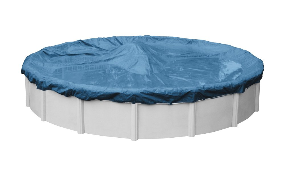 Pool Mate 3524-4PM Heavy-Duty Blue Winter Pool Cover for Round Above Ground Swimming Pools, 24-ft. Round Pool by Pool Mate