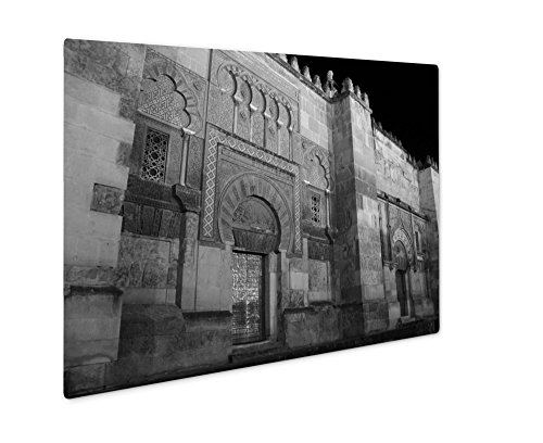 Ashley Giclee Doors Of The Mosque In Cordoba Spain, Wall Art Photo Print On Metal Panel, Black & White, 24x30, Floating Frame, AG4931041 by Ashley Giclee