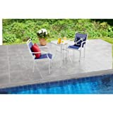 Mainstays 3-Piece Outdoor Bistro Set for Patio or Garden, Seats 2, Blue