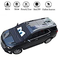 RT-TCZ Windshield Snow Ice Cover Sunshades for Windshield with Magnetic Edges Snow, Ice Defense No Scratches, Windshield Winter Cover Fits for Most Cars, Truck, SUV, Van or Automobile (Black)
