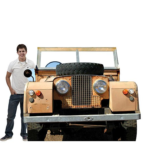 Jungle Safari Jeep Vehicle Photo Op Standee Standup Background Party Decoration Scene Setter Cardboard Cutout Prop -