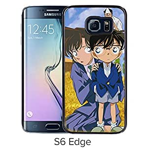 Fashionable and Durable Samsung Galaxy S6 Edge Case Design with Detective Conan 10 Black Cover