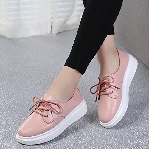 Mujer Rosa cordones Zapato JRenok con UwPqzxHt