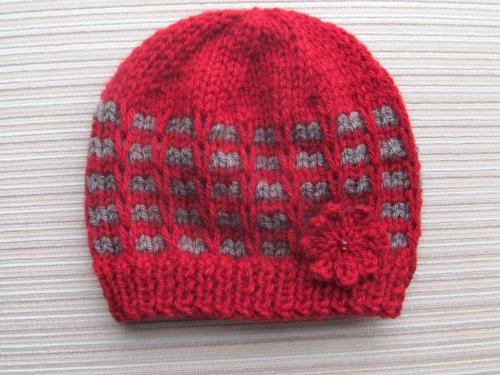 Checks Knitting Patterns (Knitting Pattern Ridged Check Stitch Hat for a Girl ( 12 months, 2-4 years))